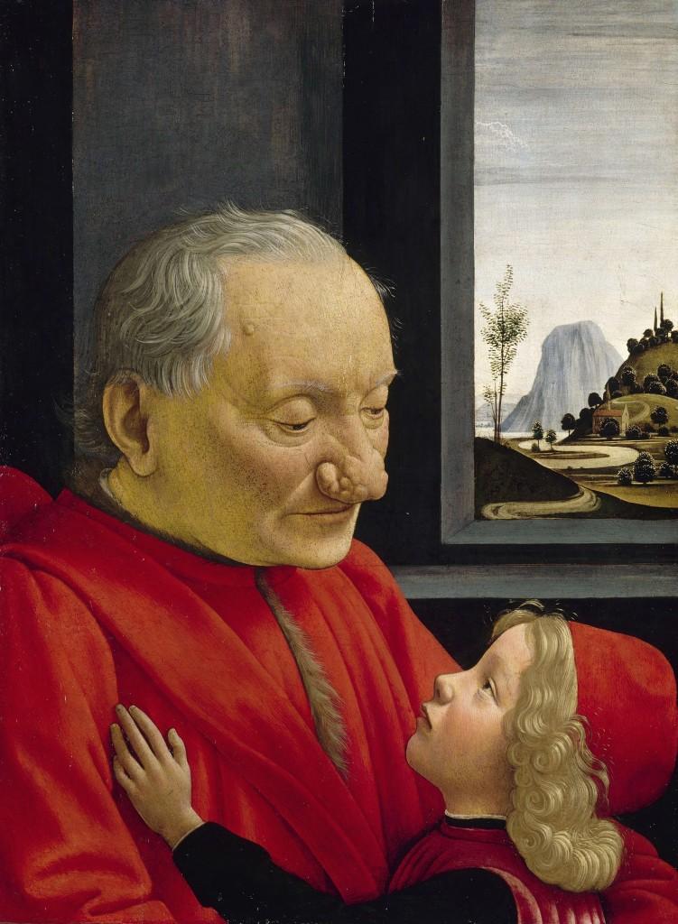 """Portrait d'un vieillard et d'un jeune garçon"" Domenico Ghirlandaio (Wikimedia Commons)"