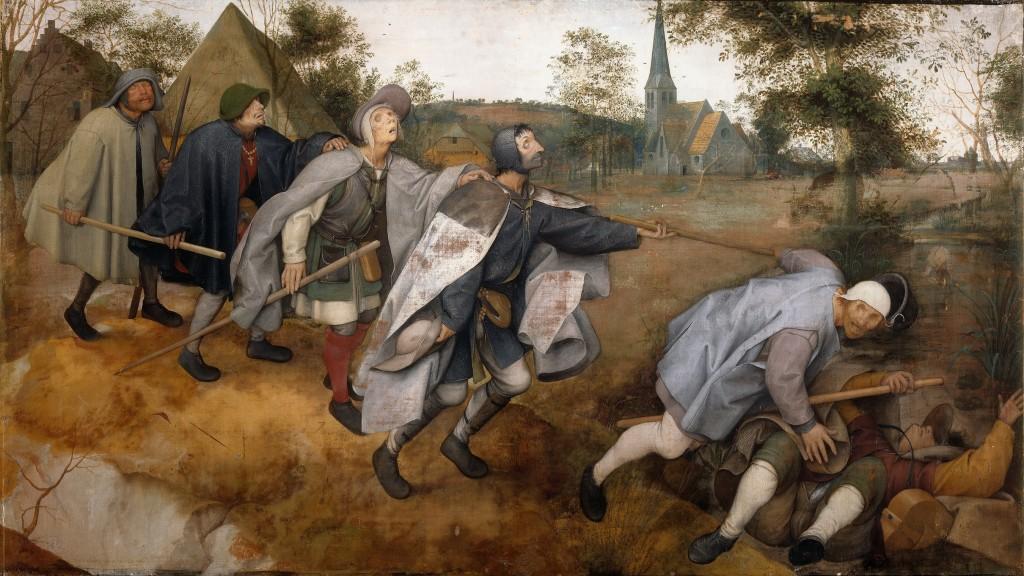 Copie d'après Pieter I Brueghel (1525-1569) La Parabole des aveugles