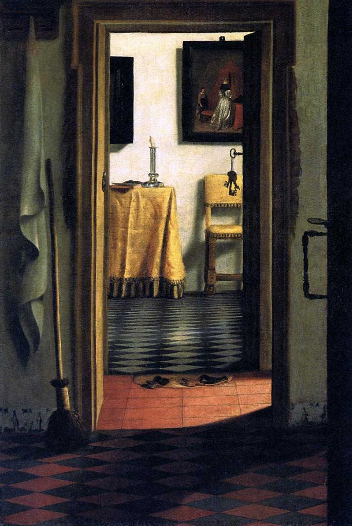 """""""Vue d'intérieur ou Les Pantoufles - Samuel Van Hoogstraten (entre 1654-1670?) CC by 2.0"""""""