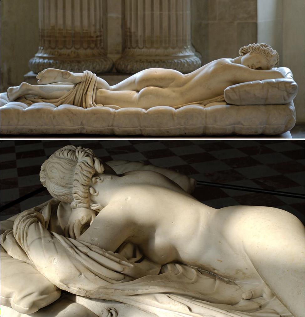 Hermaphrodite endormi (IIe siècle ap. J.-C.) - Musée du Louvre